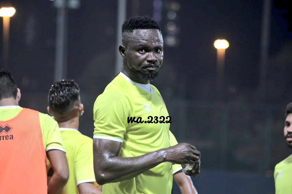 New signing Vincent Atingah trains with Kuwaiti side Qadsia SC for the first time