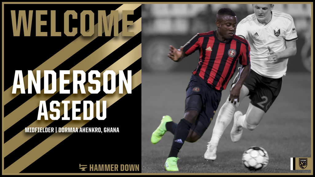 USL side Birmingham Legion announce the signing of Ghanaian midfielder Asiedu Anderson