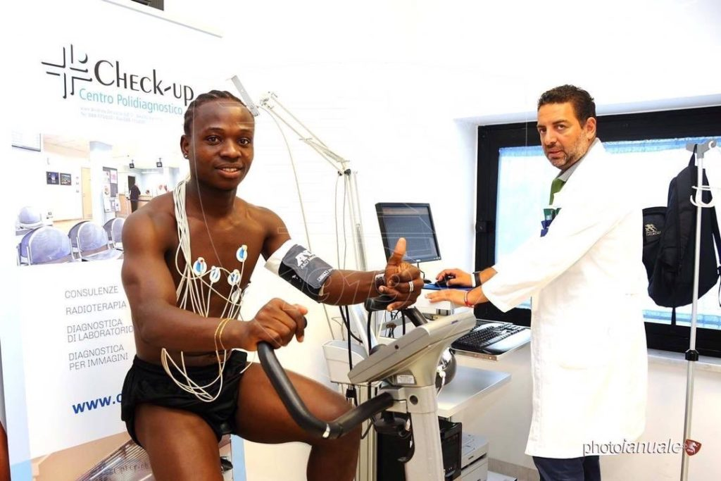 Moses Odjer undergoes medical at Salernitana ahead of pre-season