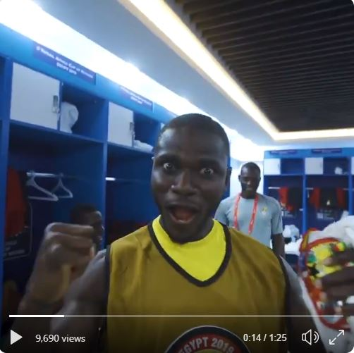 Video: Watch wild Ghana dressing room celebrations after reaching 2019 AFCON knock-out stages