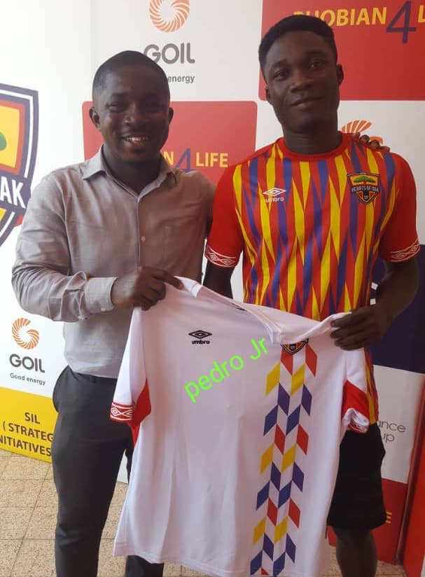 VIDEO: Hearts of Oak unveil winger Dominic Eshun for the second time
