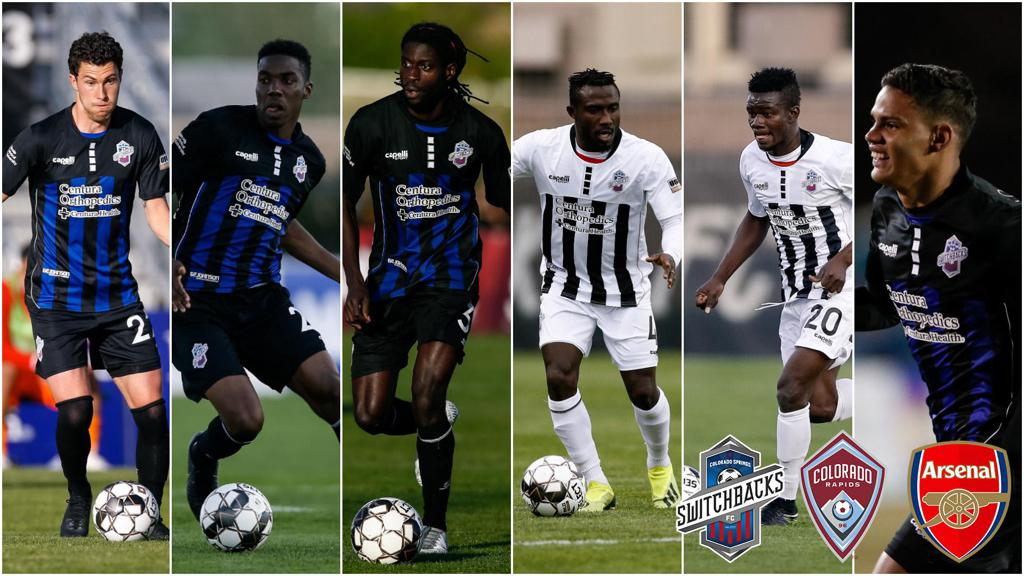 Kwasi Donsu features for Colorado Rapids in friendly defeat to English giants Arsenal