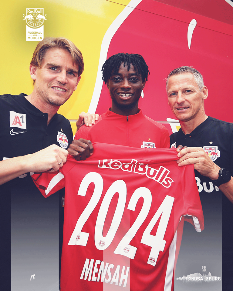 Ghana U23 left back Gideon Mensah extends Red Bull Salzburg stay until 2024