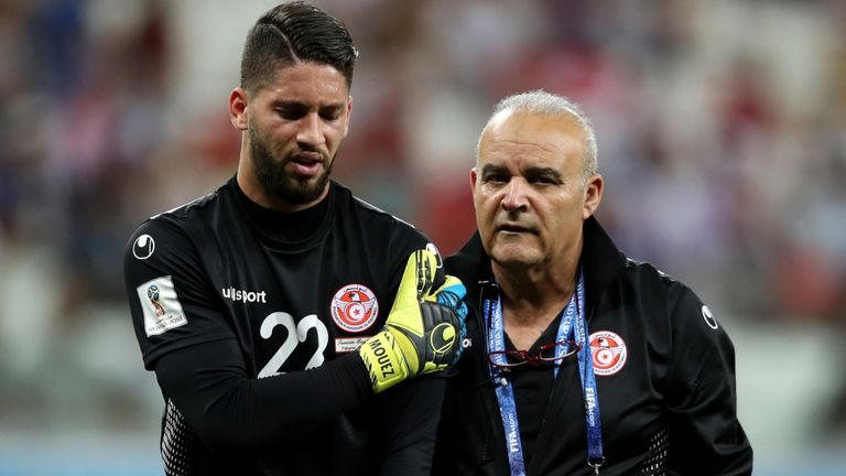 2019 Africa Cup of Nations: Tunisia goalkeeper's trainer defends Mouez Hassen's reactions after his substitution