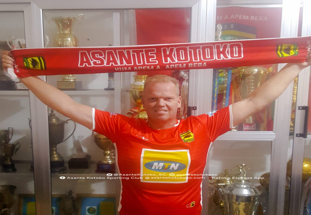 Asante Kotoko tasks new coach Kjetil Zachariassen to win a CAF Cup competition