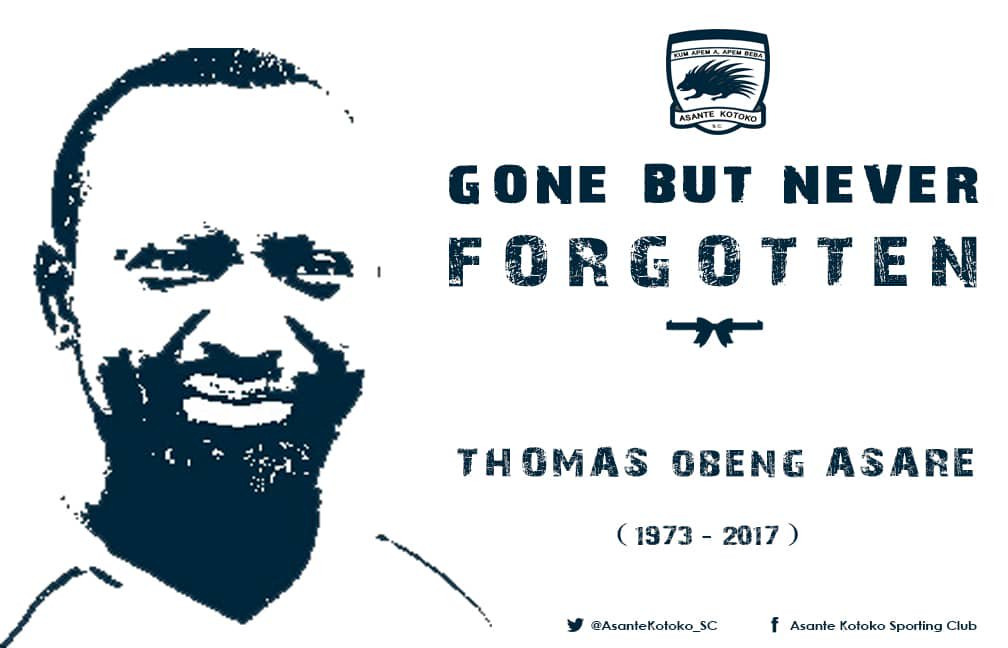 Asante Kotoko remember deputy kits officer Thomas Asare who died in fatal car accident two years ago