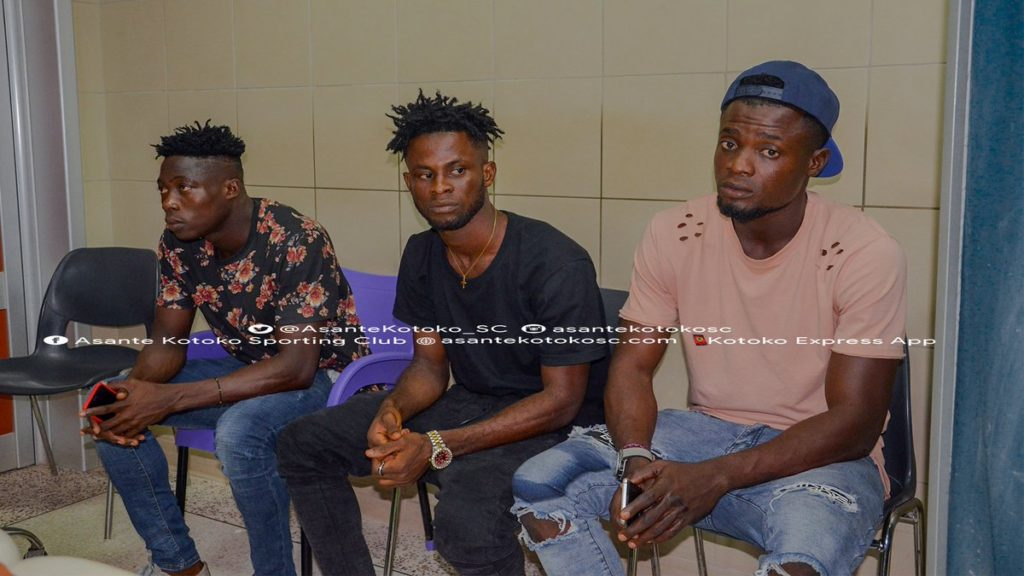Asante Kotoko complete medicals for trio Justice Blay, Kelvin Andoh and Kwame Baah