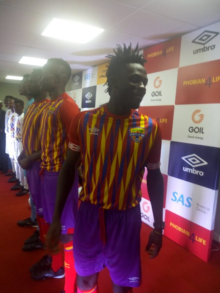 PHOTOS: Hearts of Oak players model in new Umbro jerseys
