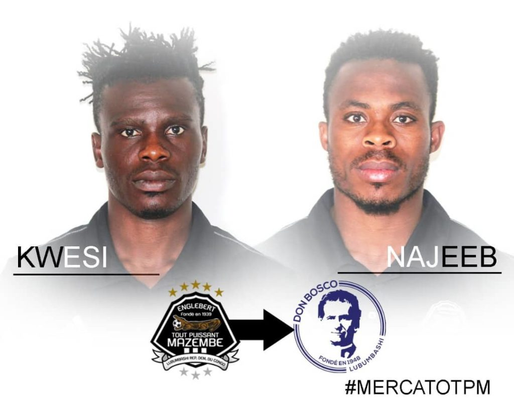 TP Mazembe send out Ghanaian duo on loan to CS Don Bosco