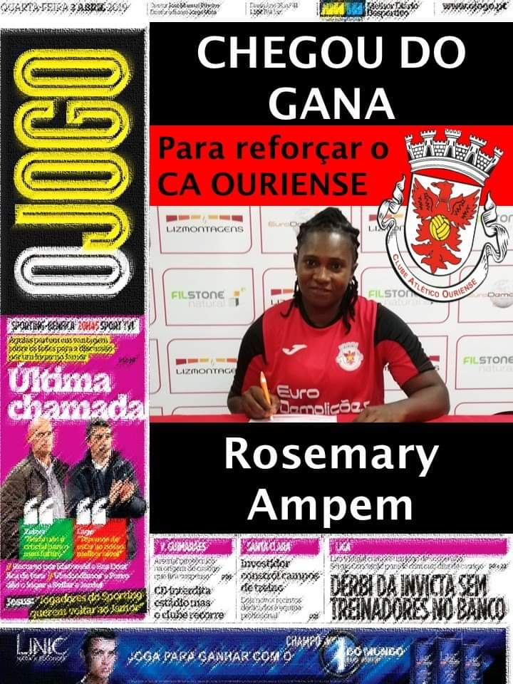 Portuguese side CA Ouriense Feminino sign Rosemary Ampem on two-year deal