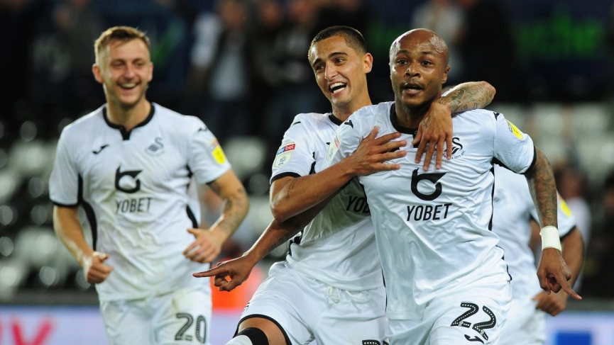 Two-goal hero André Ayew inspires Swansea City to defeat Northampton Town in Carabao Cup