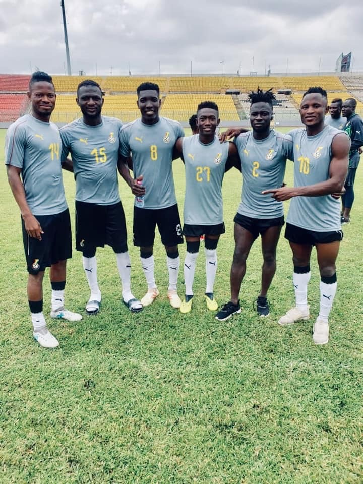 Hearts of Oak players at Black Stars 'B' camp pose for the cameras