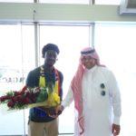 PHOTOS: Ernest Asante arrives in Saudi Arabia to start Al-Hazem career