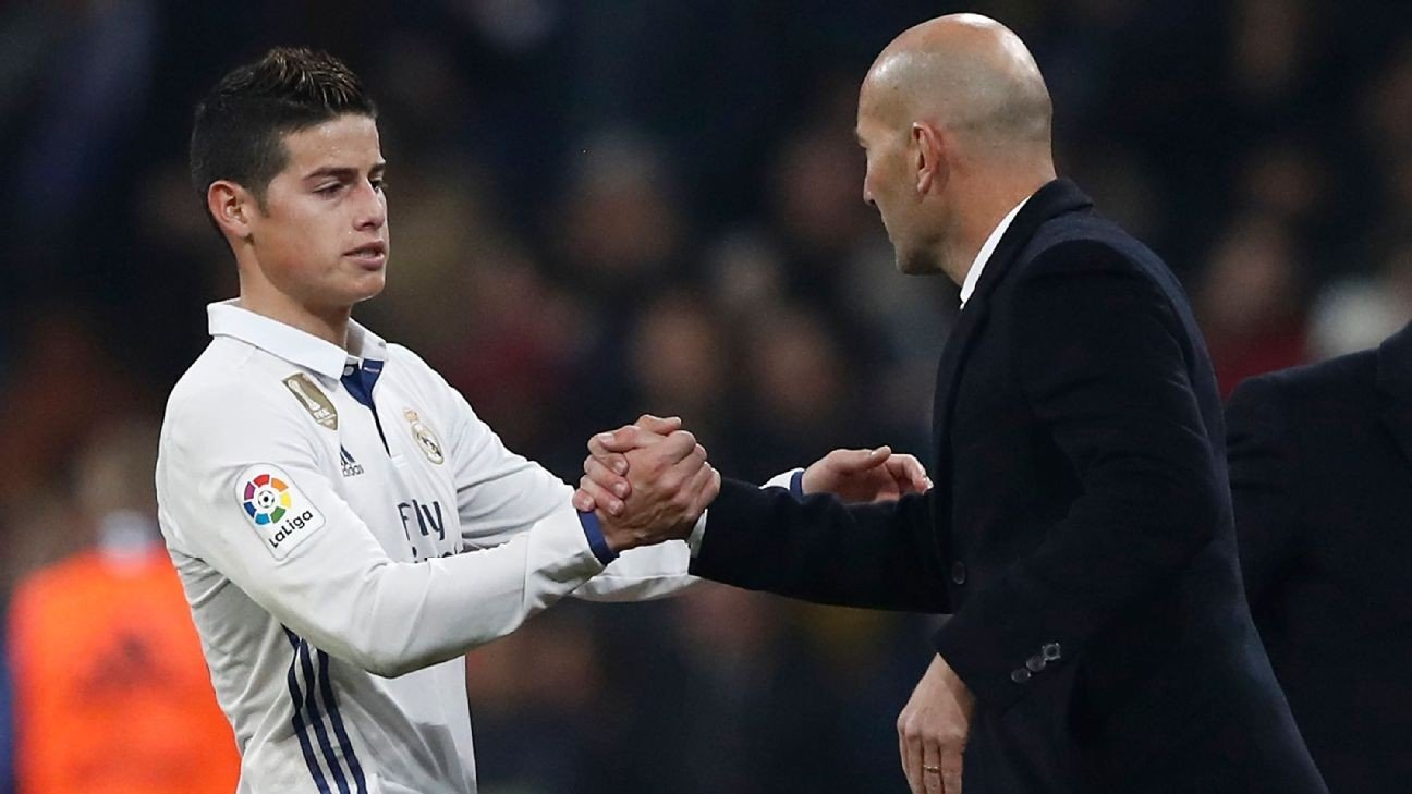Sources: James set for Zidane showdown talks