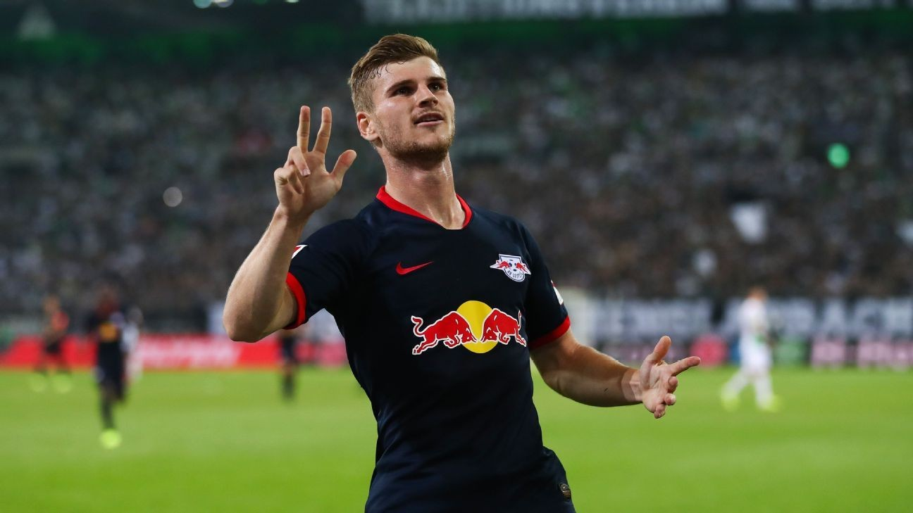 Werner treble sends Leipzig top of the table