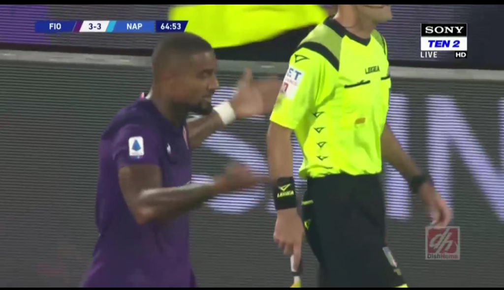 Kevin-Prince Boateng opens Serie A account for Fiorentina in goal-fest defeat against Napoli