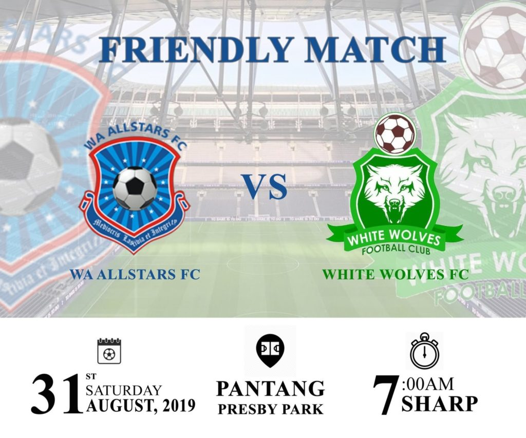 Wa All Stars to face White Wolves FC in a pre-season friendly
