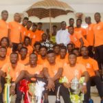 VIDEO: Otumfour counsels Asante Kotoko players to sleep at night after training