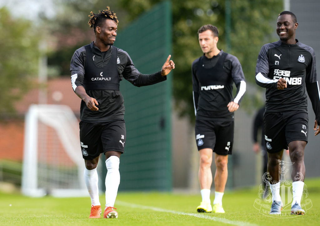 Christian Atsu returns early to Newcastle United training, could be available against Spurs