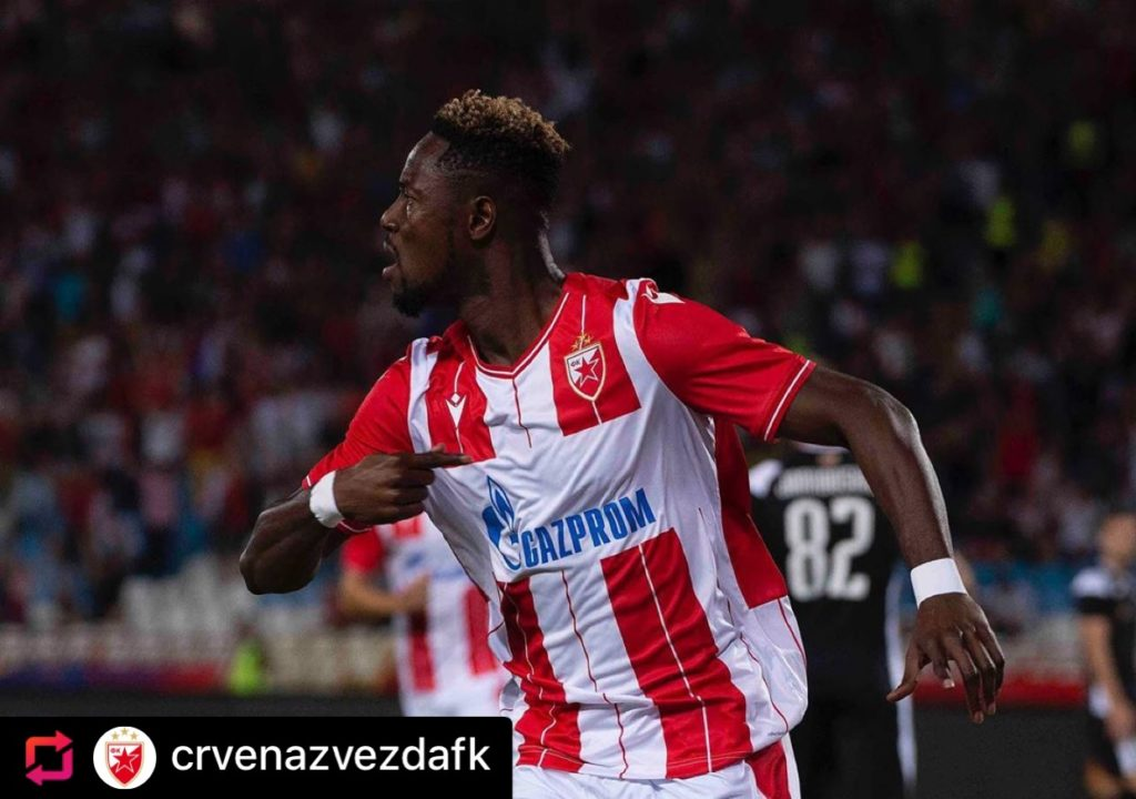 Boakye-Yiadom scores as Red Star Belgrade reach final UCL qualifying round after beating FC Copenhagen