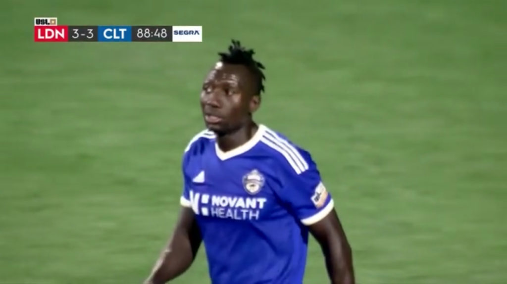 VIDEO: Dominic Oduro climbs off bench to rescue point for Charlotte Independence against Loudoun FC in USL