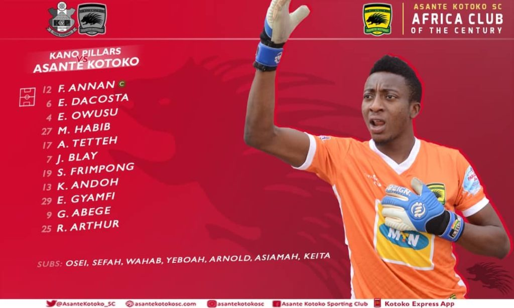 CAF Champions League: Kotoko coach Kjetil Zachariassen names SIX new signings in starting lineup for Kano Pillars clash