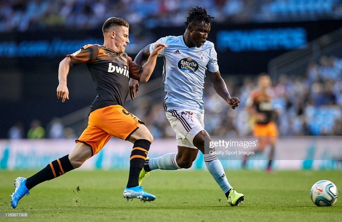 Celta Vigo defender Joseph Aidoo marks La Liga debut with strong performance against Valencia