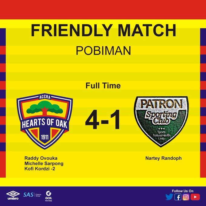 Hearts thump Patron SC in preseason friendly