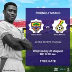 Black Meteors to play Hearts of Oak in a friendly