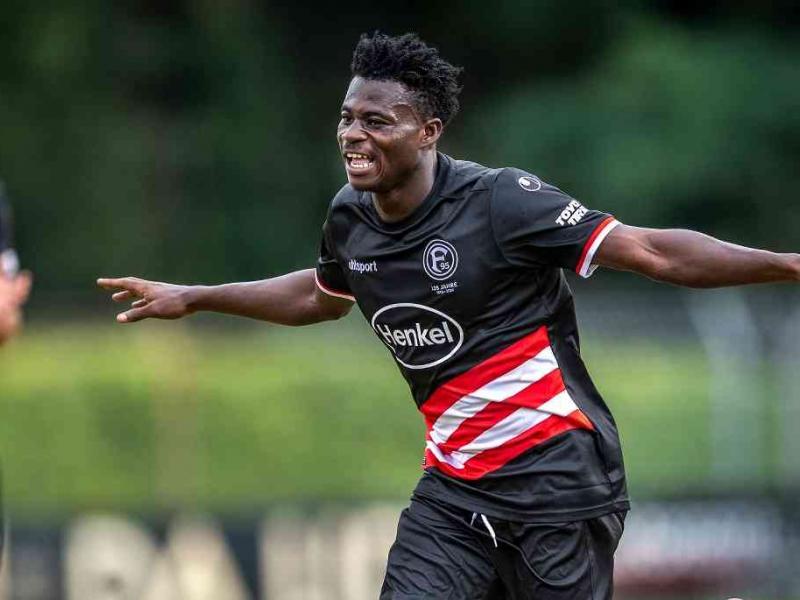 Kelvin Ofori scores a brace as Fortuna Dusseldorf thump TSV Bockum in final friendly ahead of Bundesliga opener