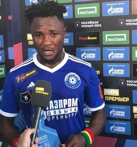 Brace-hero Joel Fameyeh picks up Man of the Match award in Russian Premier League