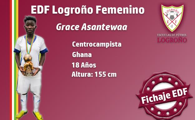 OFFICIAL: Ampem Darkoa Ladies star Grace Asantewaa signs for Spanish side Logroño