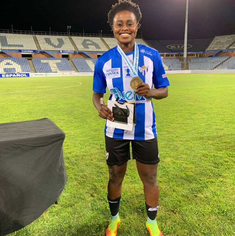 Princella Adubea wins first silverware with Spanish side