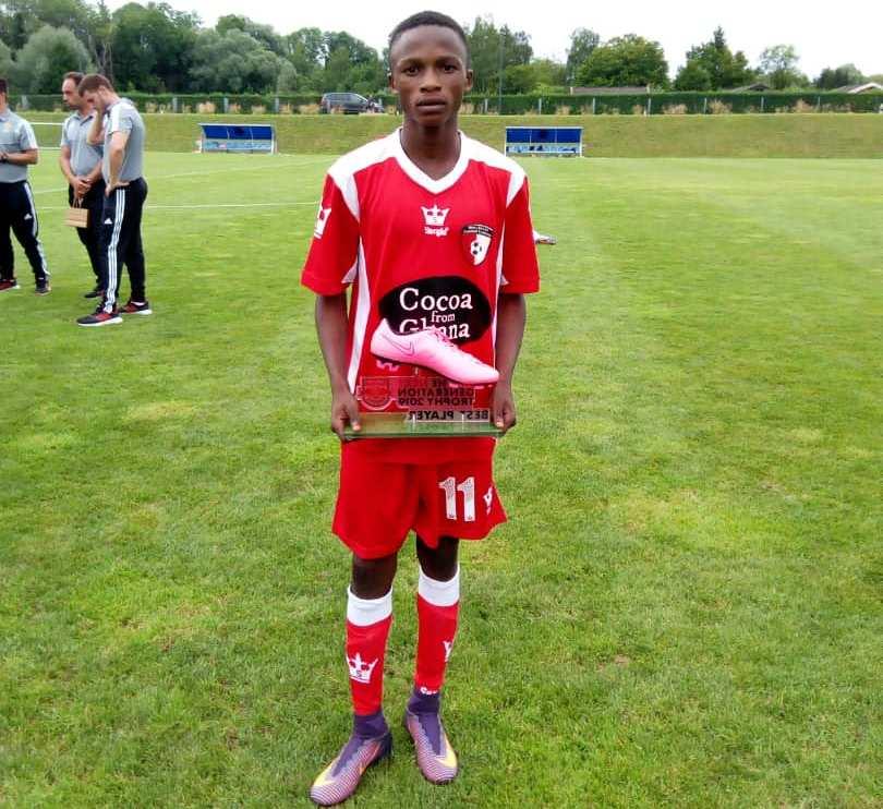 WAFA SC kid Emmanuel Intori wins MVP at 2019 Next Generation Trophy