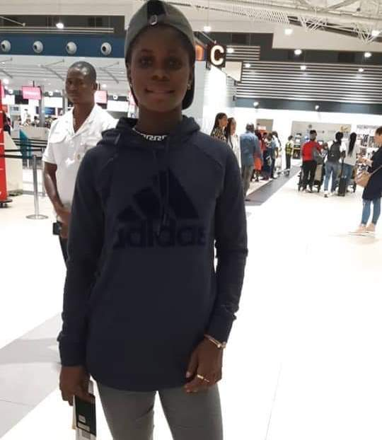 Female star Mukarama Abdulai leaves for school at Tyler Junior College in Texas, USA