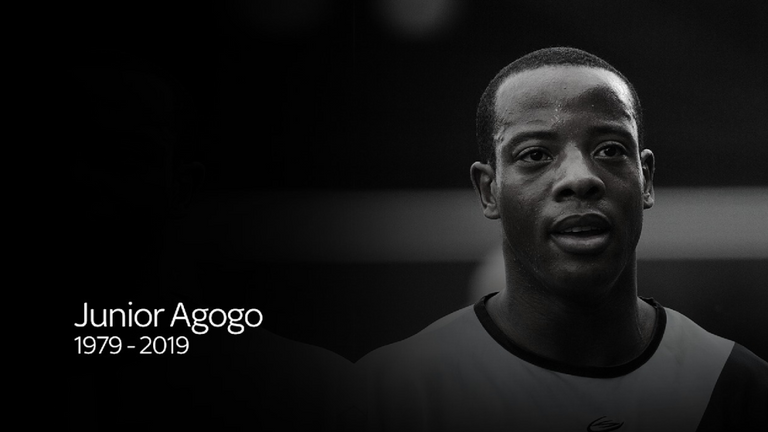 British football fans pay tribute to iconic striker Junior Agogo who has died at 40