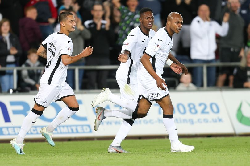 """Swansea City manager Steve Cooper heaps praise on """"highly motivated"""" Andre Ayew after brace against Northampton"""