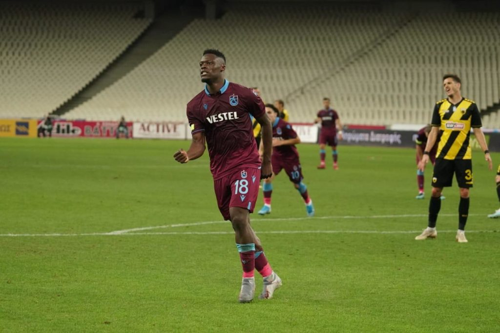 Ghana striker Caleb Ekuban scores hat-trick for Trabzonspor to destroy AEK Athens in Europa League