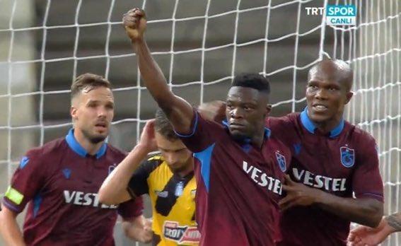 Video: Watch Ghana striker Caleb Ekuban scoring hat-trick for Trabzonspor in Europa League