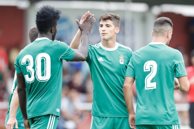Real Oviedo gaffer Sergio Egea gives thumbs up to youngster Samuel Obeng