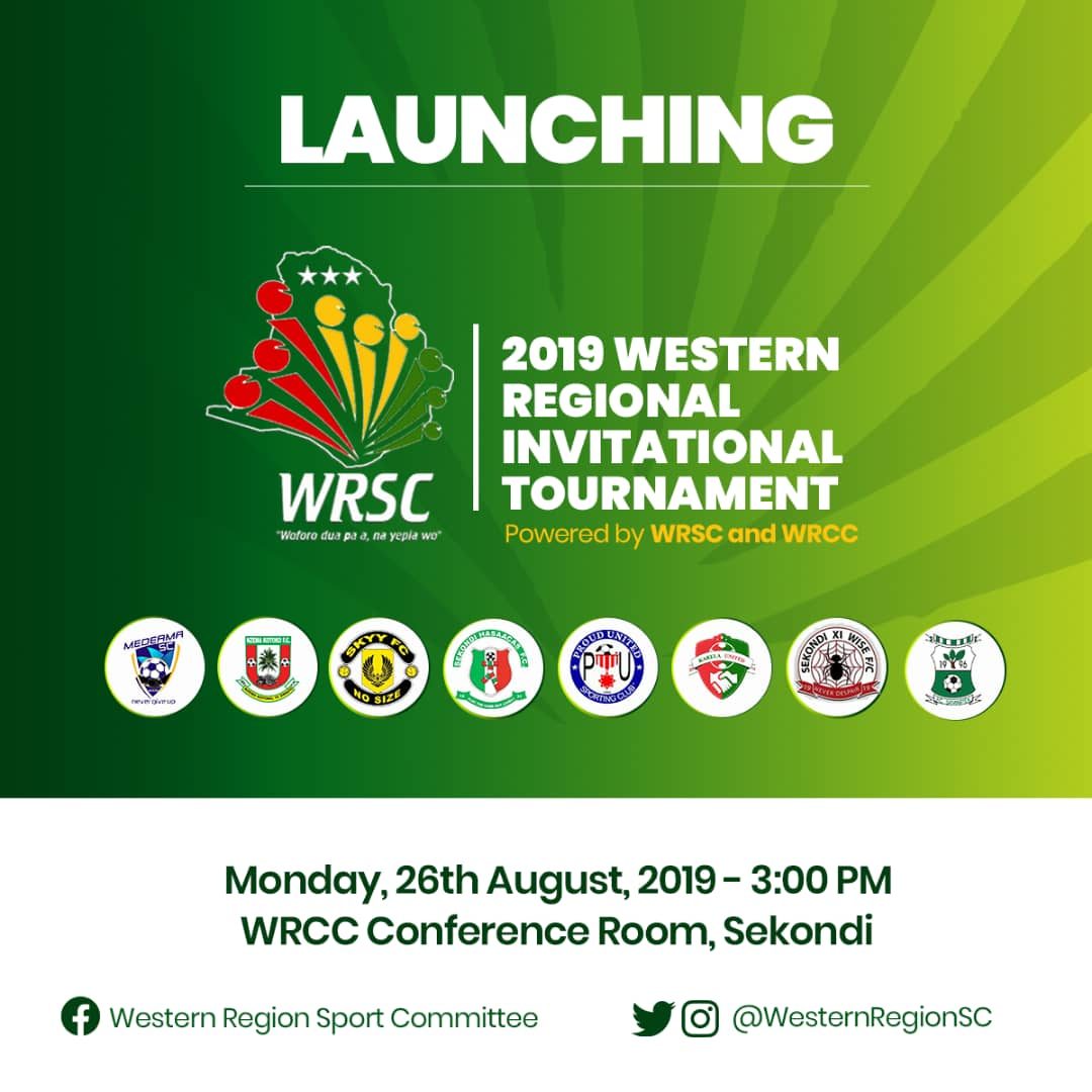Western Region invitational tournament to be launched on Monday, August 26