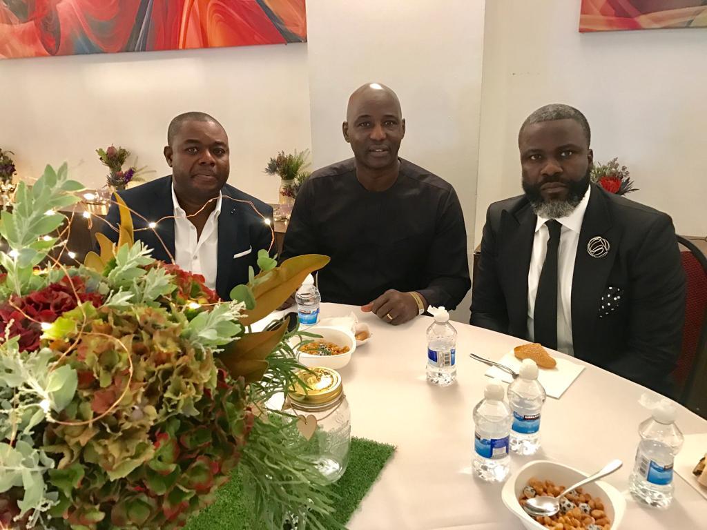 CAF Deputy Gen Sec Anthony Baffoe and PFAG gurus attend Junior Agogo's funeral