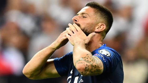 France 4-1 Albania: France win after Albania national anthem