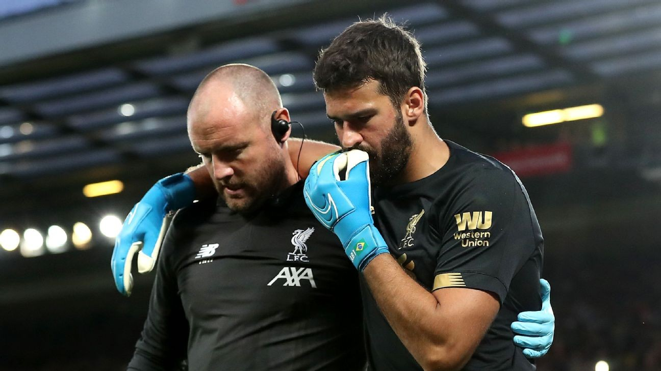 Liverpool won't rush Alisson return from injury