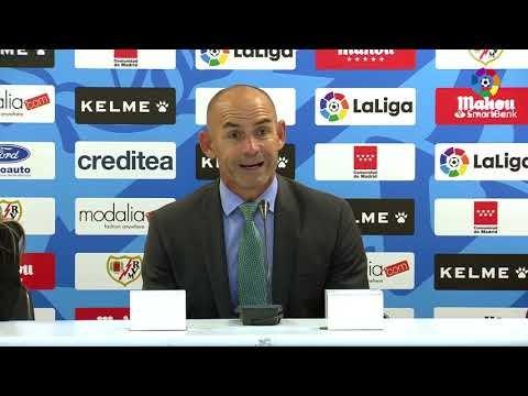 Rueda de prensa de  Paco Jémez tras el Rayo Vallecano vs Real Racing Club (2-0)