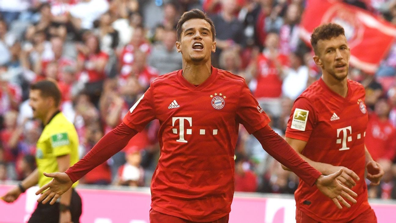 Lewy record, Coutinho scores as Bayern batter Cologne