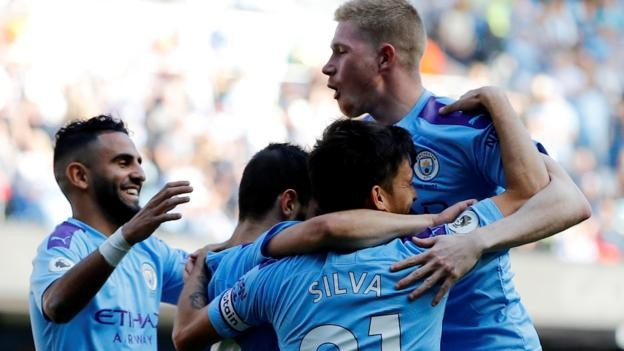 Manchester City 8-0 Watford: Hosts score five in opening 18 minutes in hammering