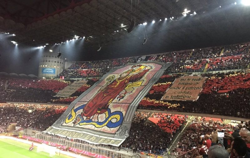 AC Milan and Inter fans unveil stunning choreography