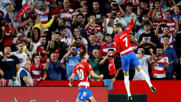Granada 2-0 Barcelona: Hosts stun champions to move top of La Liga