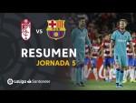 Resumen de Granada CF vs FC Barcelona (2-0)